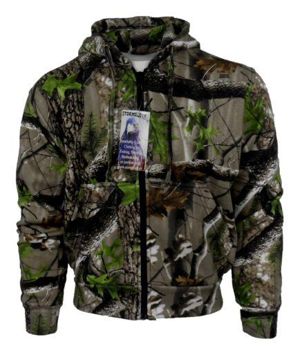 Stormkloth Trek Camo Zip Hooded Top Camouflage Hoodie Zipper Full Zip Front New