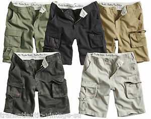 SURPLUS-TROOPER-LIGHTWEIGHT-CARGO-SHORTS-MENS-VINTAGE-ARMY-STYLE-COMBAT-COTTON