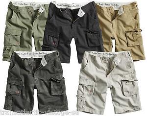 Excedente-Trooper-ligero-Pantalones-cortos-estilo-cargo-para-hombre-Vintage-Estilo-Ejercito-De