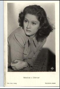 MARINA-v-DITMAR-Schauspielerin-ca-1950-60-Portraet-AK-Film-Buehne-Theater