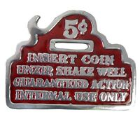 Insert 5 Cents Slot - 3 1/8 X 2 3/8 Belt Buckle