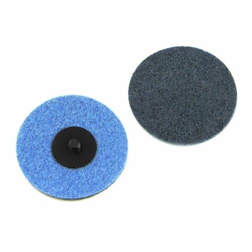 "3/"" Roloc Surface Conditioning Discs Fine Blue Quick Change Prep Pads 25 Pack"