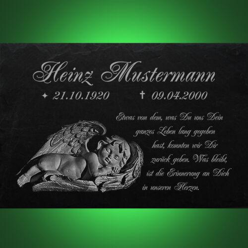 GRABPLATTE Grabmal Gedenkstein Grabstein Motiv◄ 35x25 cm 035►Gravur Inschrift