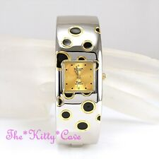 Retro Polka OMAX 2Tone Silver & Gold Seiko Movt Waterproof Bangle Watch BAE016