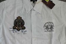 LA Martina Herren langarm Hemd Stirling Polo Weiß Größe XL Neu mit Etikett