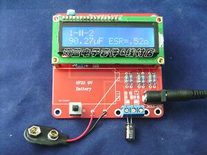ESR Inductance Resistor LC Meter Tester NPN PNP Mosfet M168 Capacitance Kit