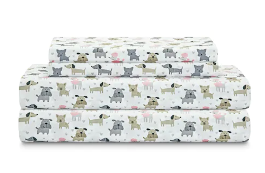 NEW QUEEN  Größe SHEETS DOG PUPPY POODLE DACSHUND BOXER PRINT QUEEN DOG PRINT