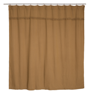 Image Is Loading BURLAP NATURAL FABRIC SHOWER CURTAIN 72X72 034 COTTON