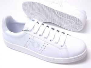 Fred-Perry-Mens-Shoes-Trainers-Uk-Size-9-5-to-11-B7211U-B721-White-Leather