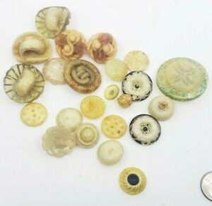 Vintage-Plastic-Lucite-Celluloid-Glittery-various-Buttons