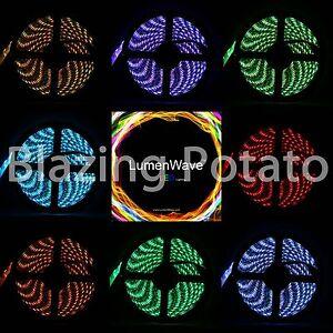 LumenWave-5M-RGB-5050-SMD-IP65-Waterproof-Flexible-LED-Strip-Lights-Black-PCB
