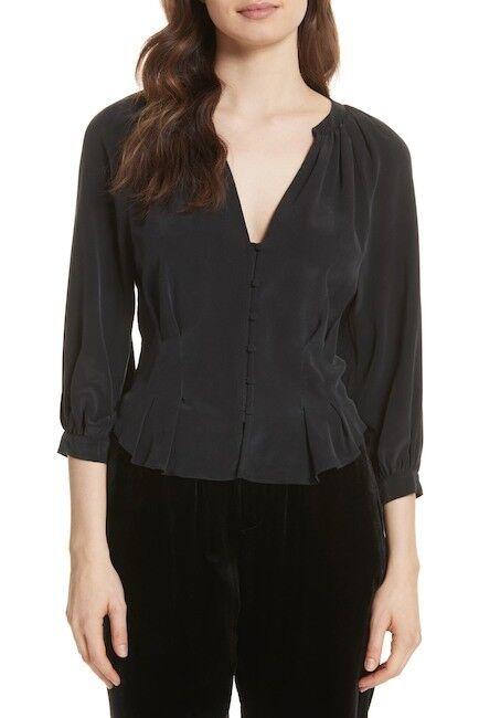 NEW Joie Bitina Silk Top in schwarz - Größe S  T423