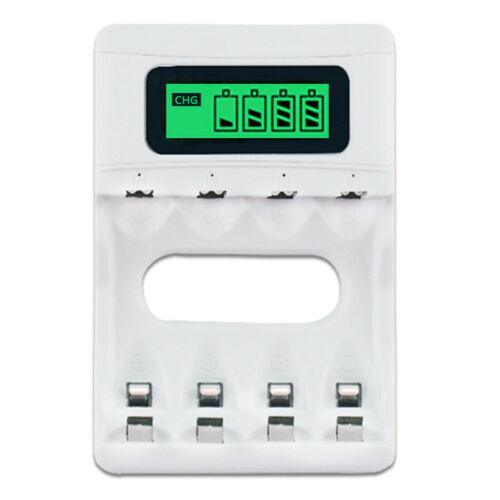 PALO 4 Slots Smart LCD Battery Charger Rechargeable USB Charger For AA AAA