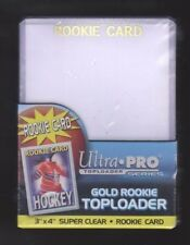 1 pack of 25 Ultra Pro 3 X 4 Topload Rookie Card Holder Gold Letters