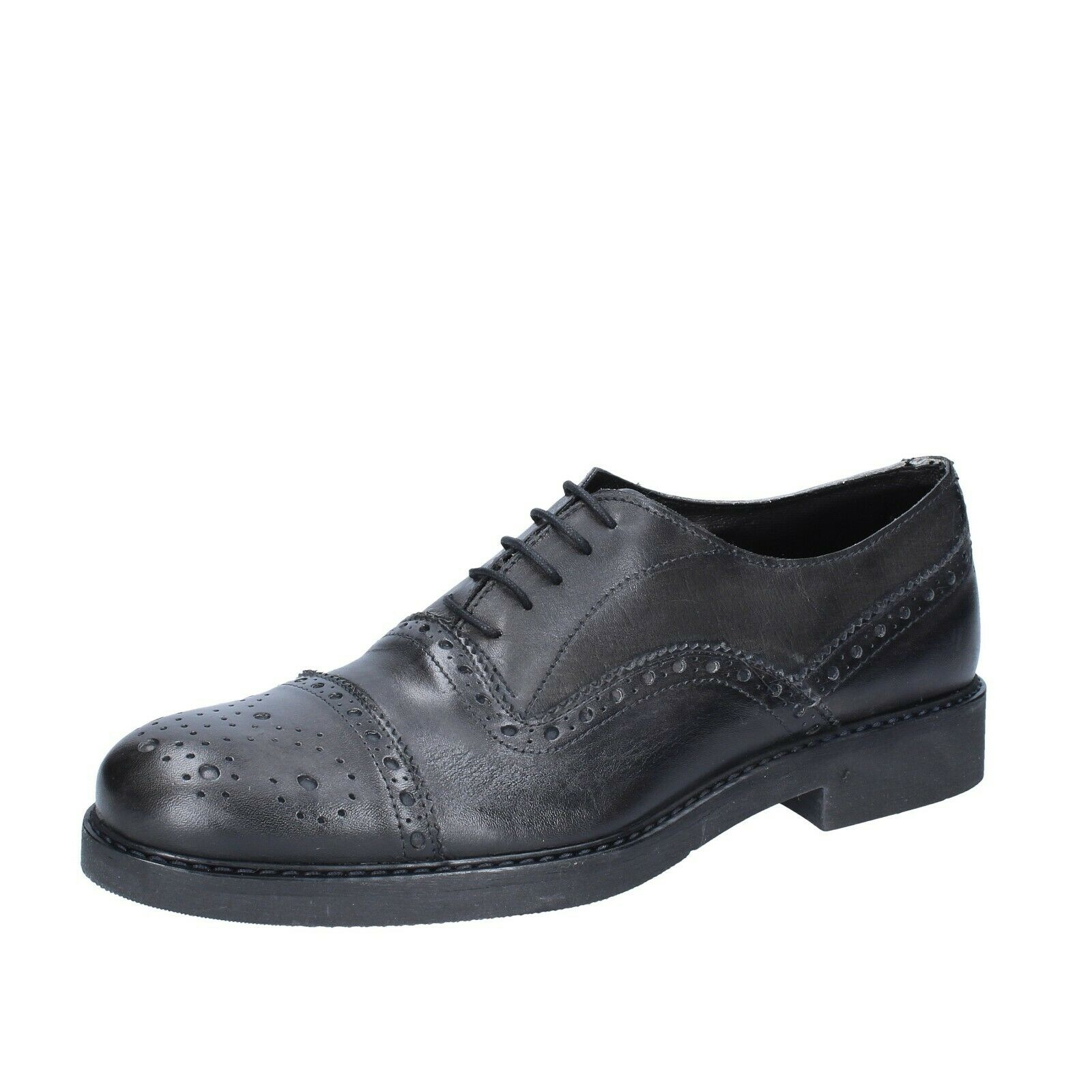 Mens shoes CHELSEA CREW 10 () elegant grey leather BS686-44