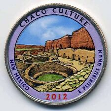 2012 CHACO CULTURE COLORIZED AMERICA'S BEAUTIFUL NATIONAL PARKS QUARTER (D)