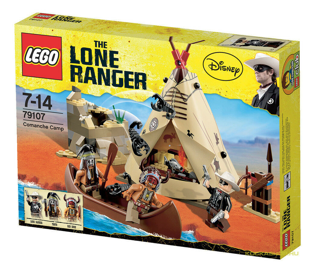 Lego The The The Lone Ranger 79107 COMANCHE CAMP Indians Western Teepee Minifigs NISB 1777ac