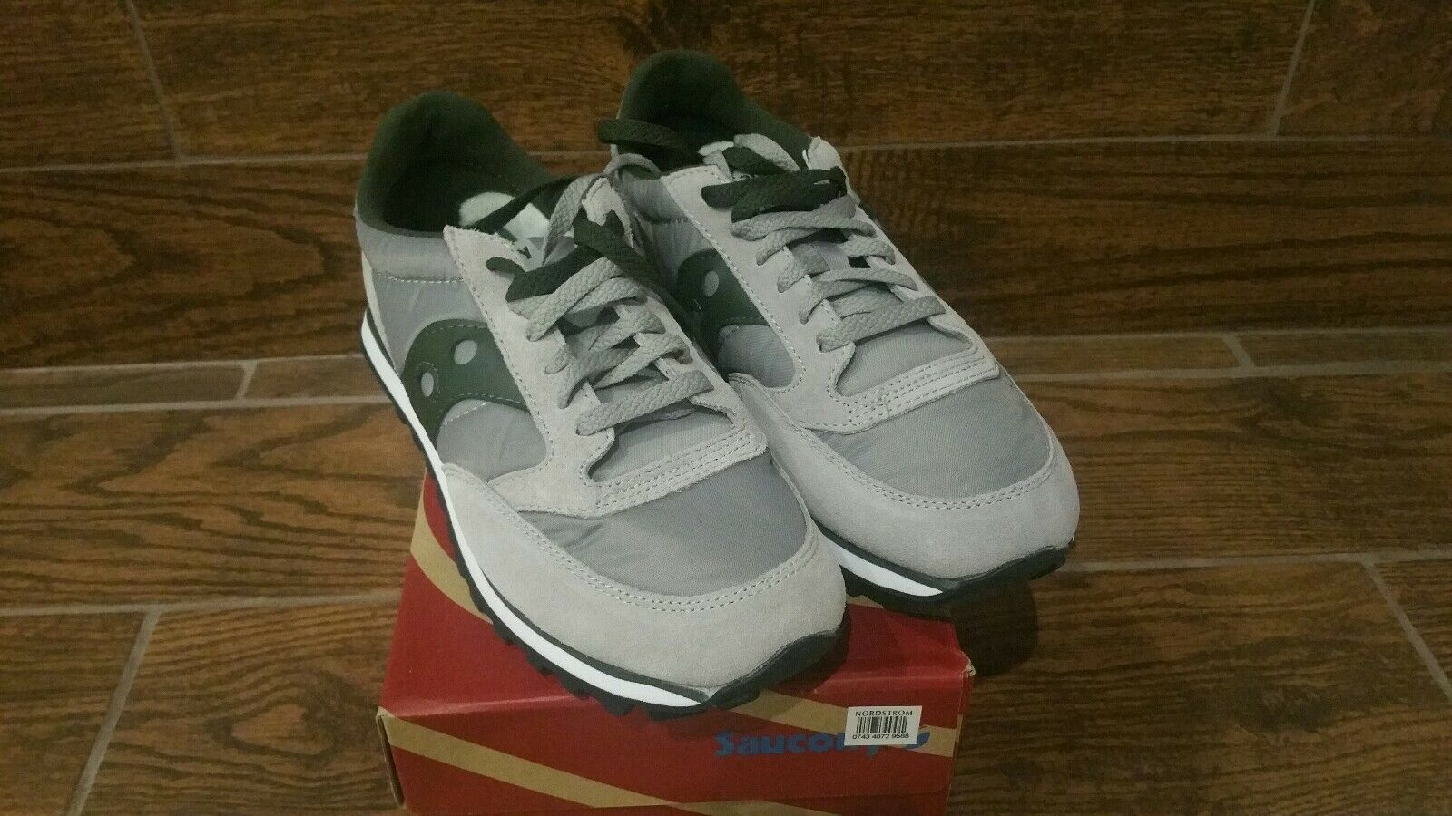 SAUCONY - SAUCONY JAZZ ORIGINAL VINTAGE VINTAGE VINTAGE TRAINERS - GREY, YELLOW 10 green ad0e72