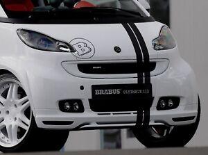 Mercedes Smart Car >> Details About Mercedes Smart Car Brabus Hood Stripes Hood Logo Decal Sticker Kit Gloss Black