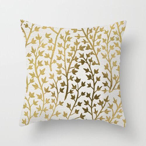 Golden Plants Throw Pillow Case Cushion Cover Line Home Decor Polyester 18/'/'