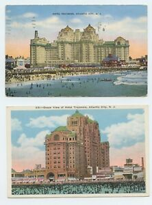 TRAYMORE-Hotel-Beach-and-Boardwalk-Atlantic-City-to-Chicago-1941-one-is-unused
