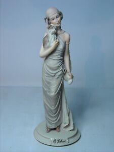 Auro-Belcari-LADY-HOLDING-PUPPY-Italian-Figurine-9-8-034-25cm-Tall-Dear-Studio