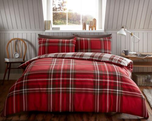 Brushed Cotton Flannelette//Flannel Charter Stripe Quilt Duvet Cover Double King