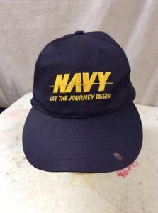 d0459c166016d6 trucker hat baseball cap Vintage Navy Let The Journey Begin   eBay