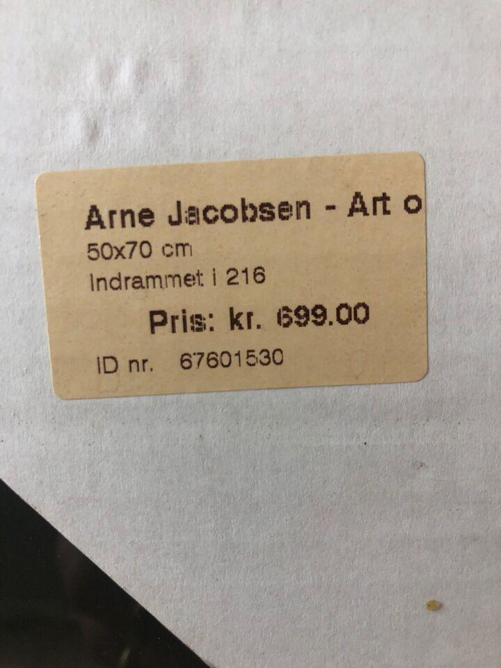 Plakat, motiv: Arne Jacobsen / Swan Chair, b: 50 h: 70