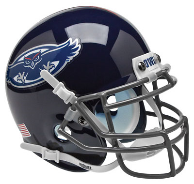 FLORIDA ATLANTIC OWLS NCAA Schutt XP Authentic MINI Football Helmet FAU