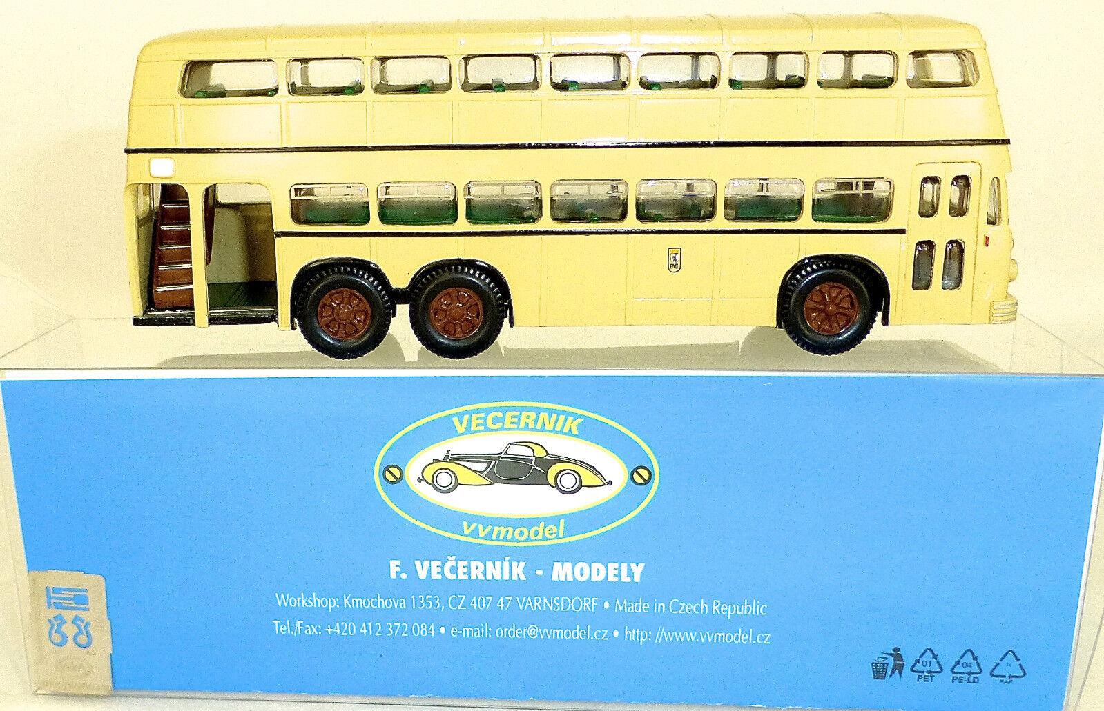 D3U Double Decker Bus Büssing Handmade Small Series V&v Model H0 1 87 Μ