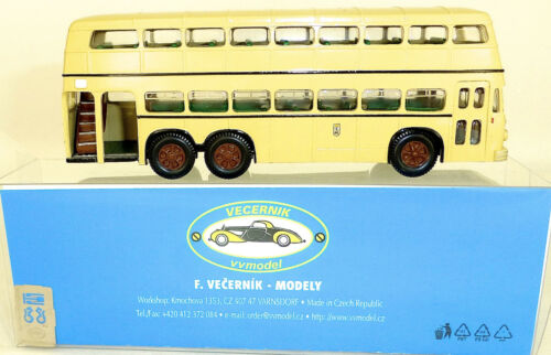 D3U Doppeldecker Bus Büssing Handarbeit Kleinserie V&V Modell H0 1:87  µ *