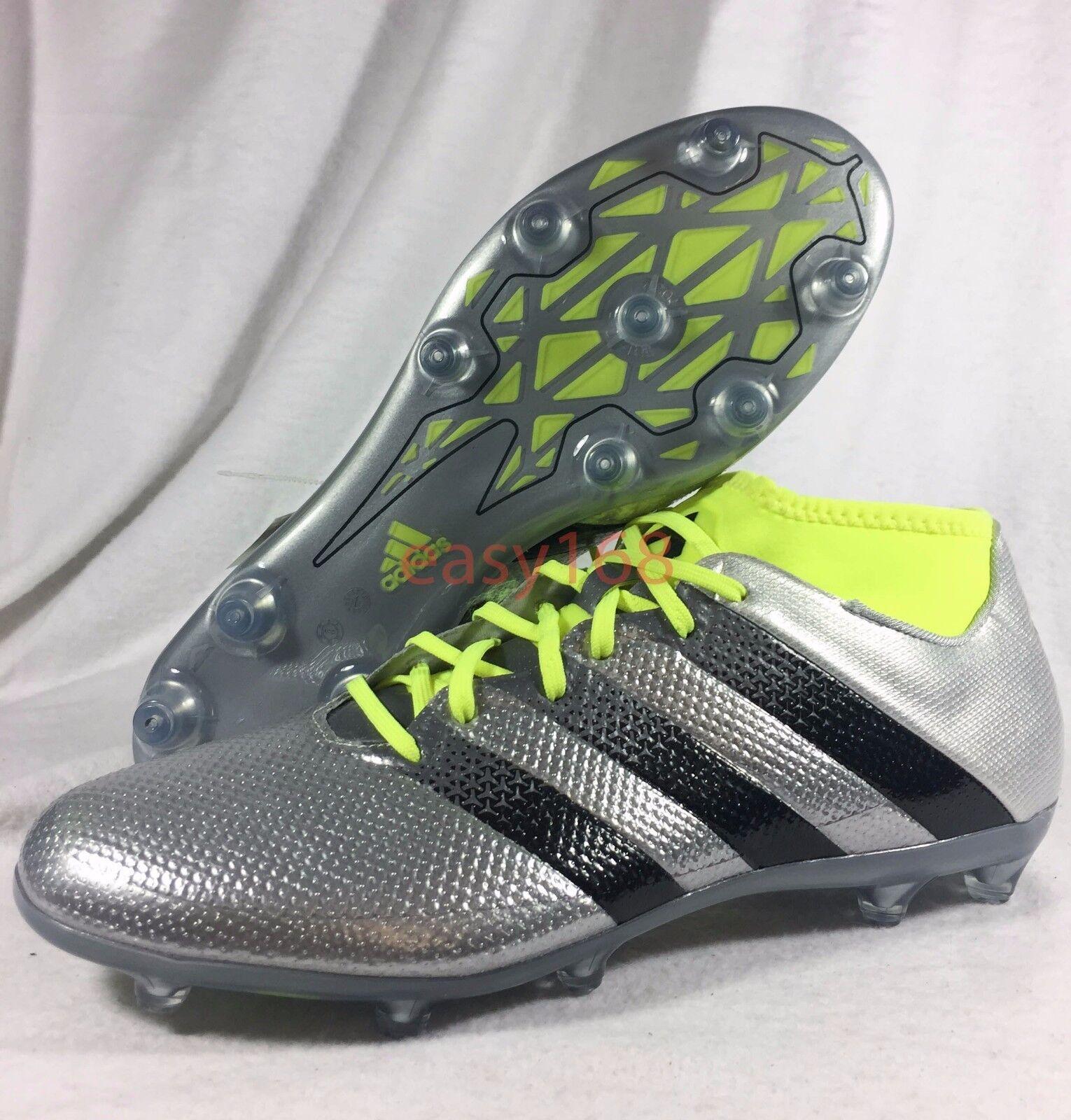 NEW ADIDAS Ace 16.2 Primemesh FG AG Sz 10.5 Mens Soccer Cleats Silver AQ3448