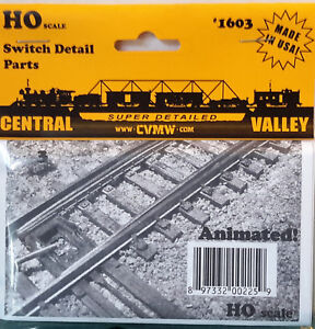HO-HOn3-Scale-Central-Valley-039-Switch-Detail-Parts-039-Kit-1603