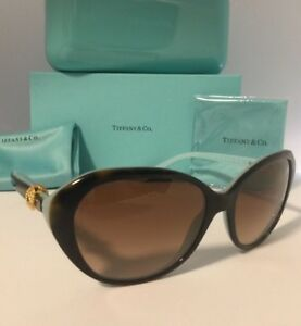 f44d2edf1cf TIFFANY   CO. AUTHENTIC WOMEN S CLASSIC GOLD KNOT SUNGLASSES(TF4098 ...