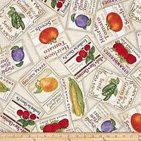 Fruit Labels Cotton Fabric Saturday Evening Post Quilting Treasure Bfab