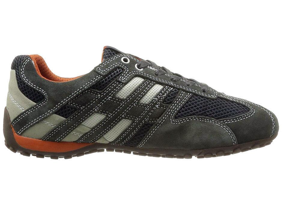 GEOX U Snake K Schuhe Herren Sneaker Leder Halbschuhe grey Box U4207K02214C1300