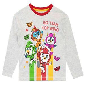 Girls Kids Official Licensed PJ Masks White Long Sleeve T Shirt Top