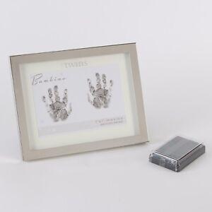 Bambino Argentés Jumeaux Impression Empreinte Footprint Kit & Ink Pad Cg1106-afficher Le Titre D'origine