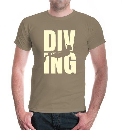 Herren Unisex T-Shirt Diving Type Tauchen Tauchsport Wassersport Taucher Urlaub