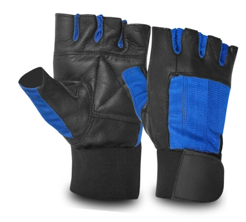 Leather Bus Driving Gloves Finger Less Gym Exercise Weight Lifting Wheelchair