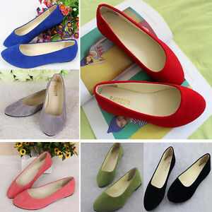 HOT-Womens-Ballerina-Ballet-Dolly-Pumps-Ladies-Flats-Loafers-Single-Boat-Shoes