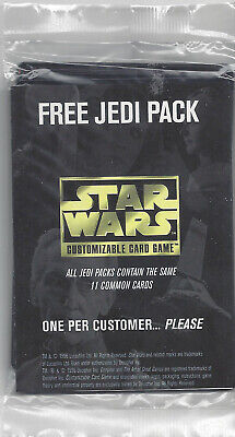 Star Wars CCG Free Jedi Pack Promo Booster Set 11 Cards Sealed Set Decipher Game