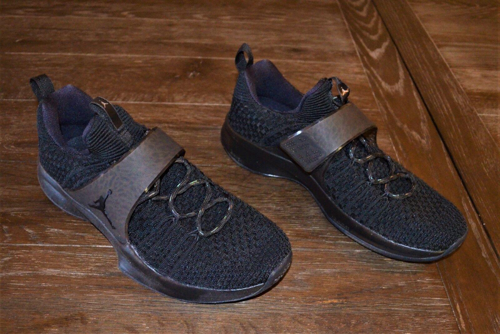 Nuevo JORDAN TRAINER 2 FLYKNIT para hombres zapatos talla 11 negras de capacitación para entrenamiento