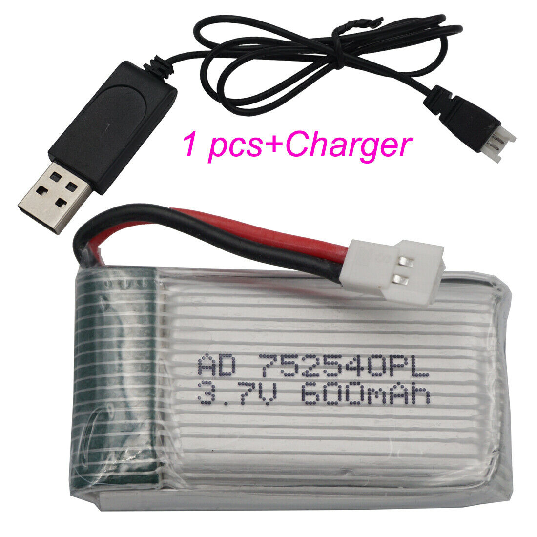 3.7V 600mAh 25C 25C 25C Polymer Li ion battery 752540 for Syma X5C Quadrocopter original 441983