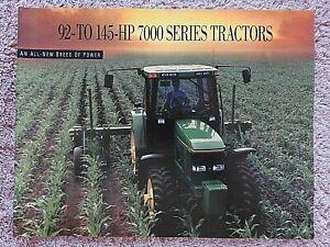 1993 JOHN DEERE 7200 7400 7600 7700 7800 TRACTOR BROCHURE CATALOG VERY NICE