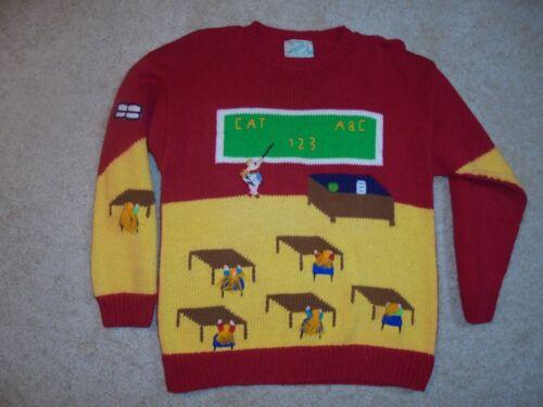 rosso bambini Smith per Insegnante a M California scuola Suzy Vintage fatti maglione di mano 8UwCwqO1