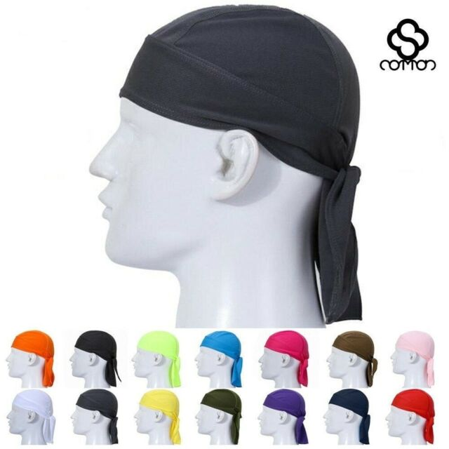 SOLID WHITE GENUINE Leather SKULL CAP biker MOTORCYCLE FITTED Do Rag HEAD WRAP