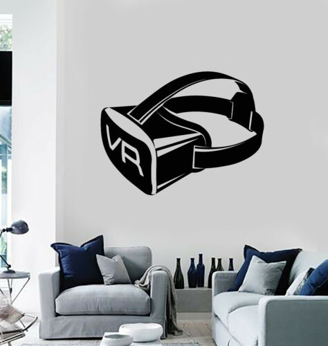 Details about  /Vinyl Wall Decal VR Virtual Reality Gamer Video Game Movie Stickers Mural g389