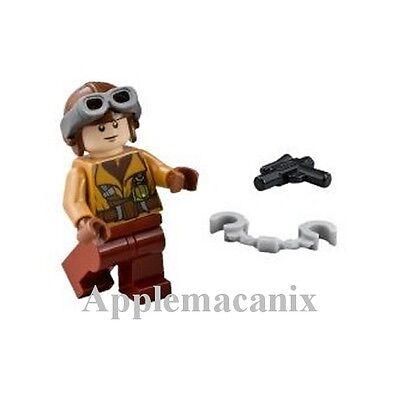 Lego Naboo Fighter Pilot 75092 Medium Nougat Jacket Star Wars Minifigure